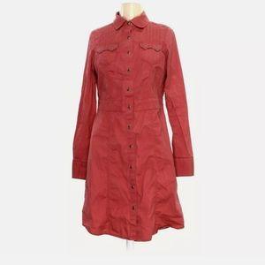 Aventura organic denim snap button dress